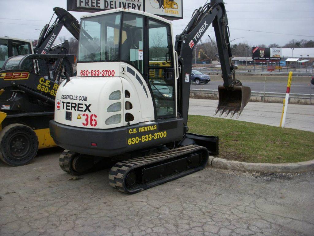 tc35 terex excavator contractors equipment rentals 630 833 3700